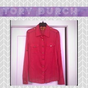 Pink Tory Burch Button-Down - Bright and Breezy